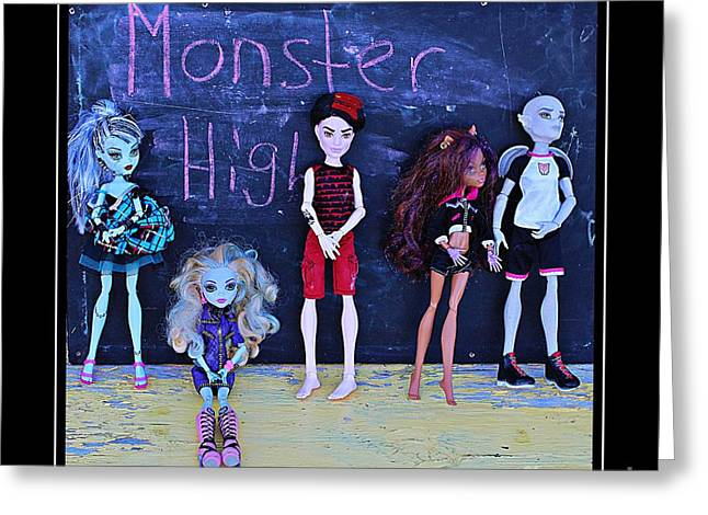 Stein Greeting Cards - Sarahs Monster High Collection Greeting Card by Barbara Griffin