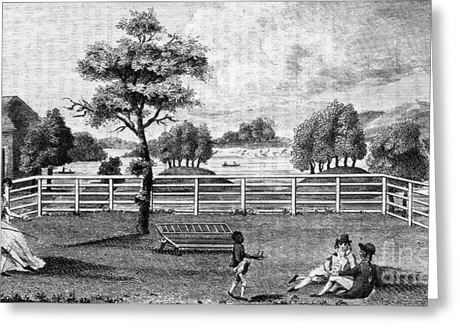 1794 Greeting Cards - Saratoga, New York, 1794 Greeting Card by Granger
