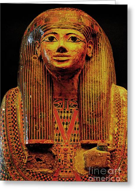 Egyptian Sarcophagus Greeting Cards - Sarcophagus Greeting Card by Nancy Bradley