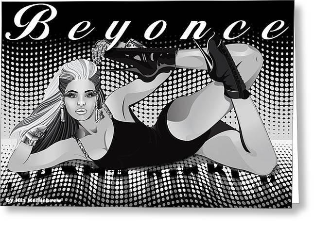 Beyonce Greeting Cards - Sasha Fierce Greeting Card by Kia Kelliebrew
