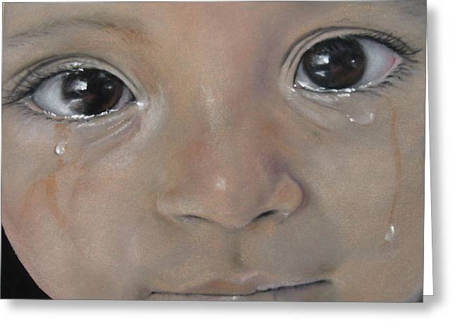 Best Sellers -  - Missing Child Greeting Cards - Sashas Tears Greeting Card by Carol Dallas
