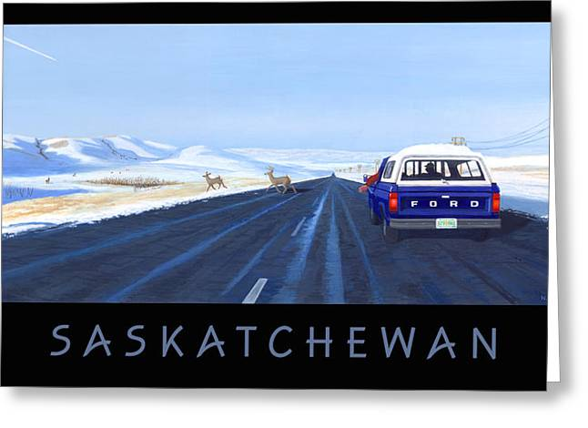 Canadian Prairie Landscape Greeting Cards - Saskatchewan Beauty Poster Greeting Card by Neil Woodward