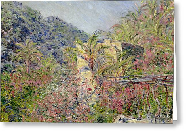 1884 (oil On Canvas) Greeting Cards - Sasso Valley Greeting Card by Claude Monet
