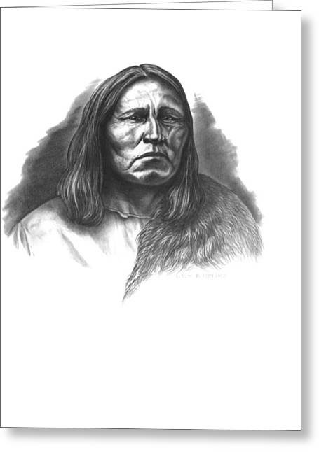 Aboriginal Art Drawings Drawings Greeting Cards - Satanta Greeting Card by Lee Updike