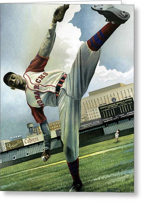 Negro League Greeting Cards - Satchel Greeting Card by Rich Marks
