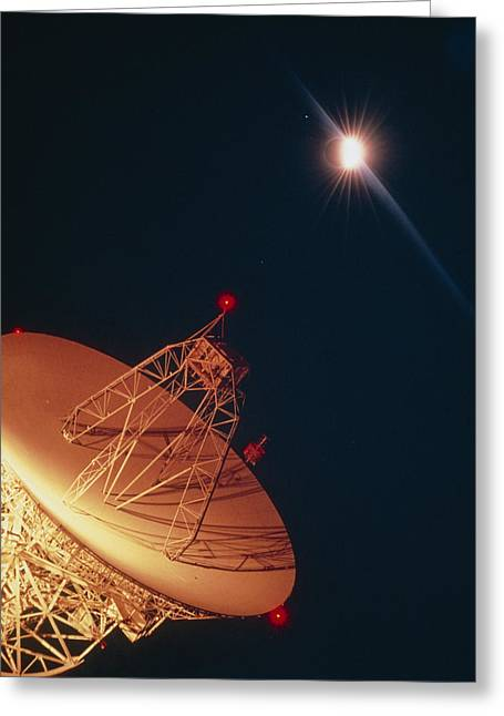 Solar Eclipse Greeting Cards - Satellite Dish At Station At Wallops Island, Usa Greeting Card by Nasa.