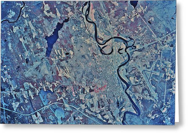 Satellite View Of Concord, New Greeting Card by Stocktrek Images