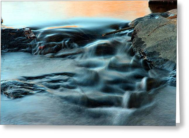 Babbling Greeting Cards - Satin Waters Greeting Card by Mike Flynn