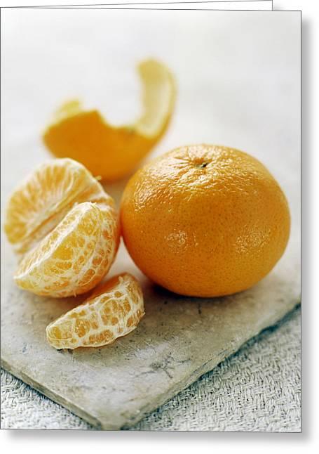 Tangerine Greeting Cards - Satsuma Greeting Card by David Munns