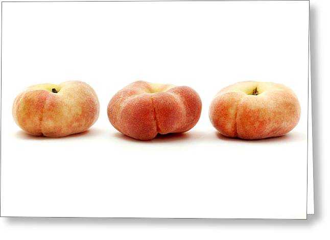 Saturn peaches  Greeting Card by Fabrizio Troiani