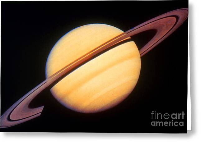 Science Greeting Cards - Saturn Greeting Card by Science Source