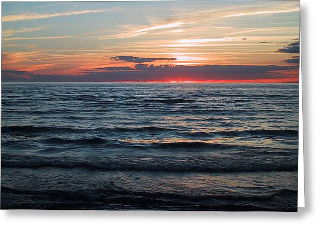 Ontario Greeting Cards - Sauble Beach Sunset Greeting Card by Merv Scoble