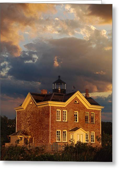 Legendary Lighthouses Greeting Cards - Saugerties Ny Lighthouse Greeting Card by Skip Willits