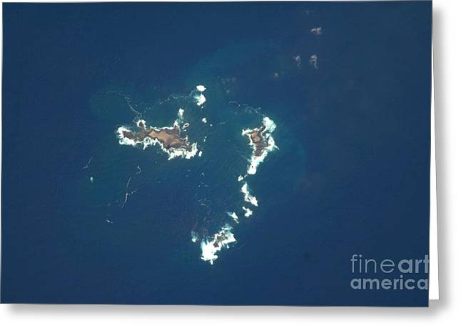 Aerial Photograph Greeting Cards - Savage Islands, Atlantic Ocean Greeting Card by NASA/Science Source
