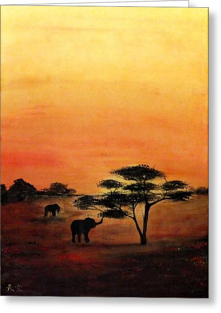 Vlad Grigore Greeting Cards - Savana Greeting Card by Grigore Vlad