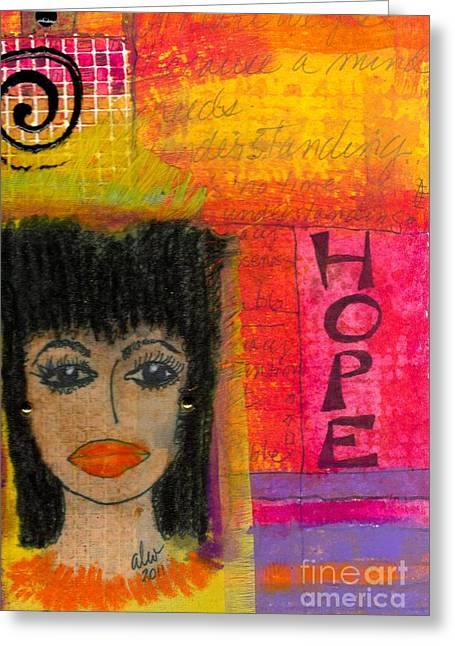 Weeping Mixed Media Greeting Cards - Save My Weeping Heart Greeting Card by Angela L Walker