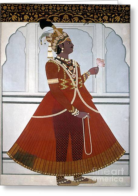 Sawai Pratap Singh Greeting Card by Granger