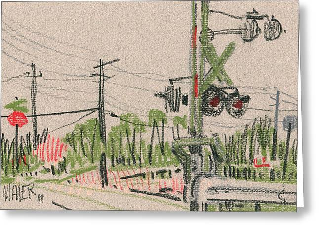 Sketch Greeting Cards - Sawyer Crossing Greeting Card by Donald Maier