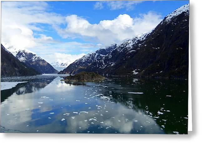 Cumulus Nimbus Greeting Cards - Sawyer Glacier 1 Greeting Card by Randall Weidner