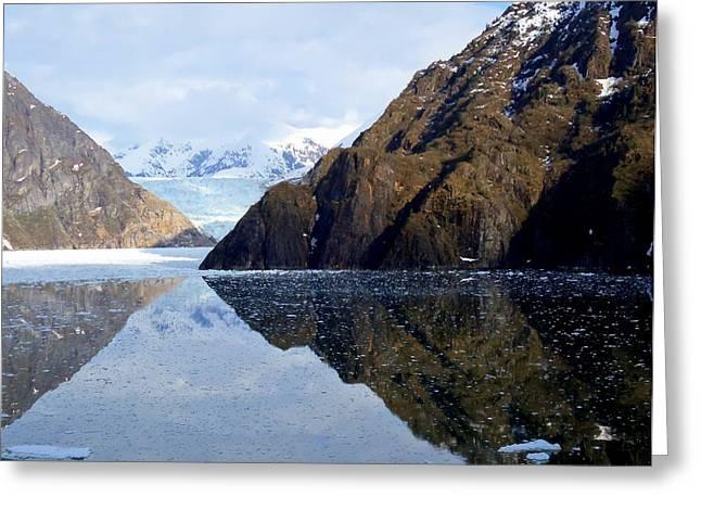 Cumulus Nimbus Greeting Cards - Sawyer Glacier 4 Greeting Card by Randall Weidner
