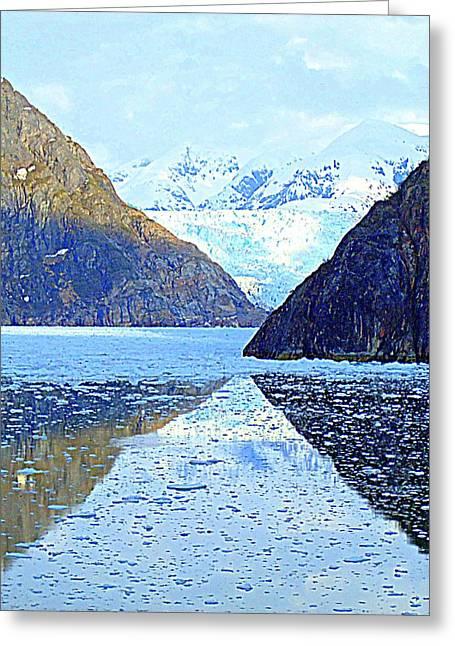 Cumulus Nimbus Greeting Cards - Sawyer Glacier 5 Greeting Card by Randall Weidner