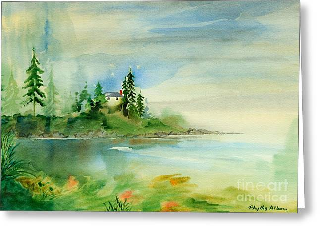 Saxe Point Greeting Card by Phil Albone