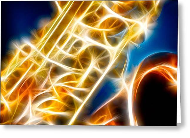 Saxophone 2 Greeting Card by Hakon Soreide