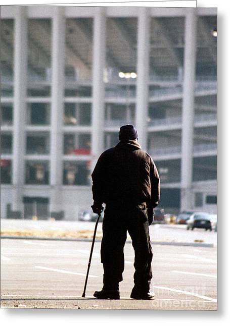 Veterans Stadium Greeting Cards - Saying Goodbye Greeting Card by Susan Stevenson