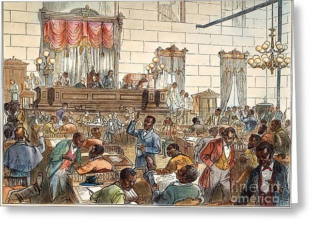 1876 Greeting Cards - Sc: Legislature, 1876 Greeting Card by Granger