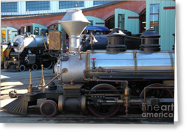 Train Rides Greeting Cards - Scale Steam Locomotives - Traintown Sonoma California - 5D19200 Greeting Card by Wingsdomain Art and Photography
