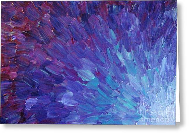 Wow Paintings Greeting Cards - Scales of a Different Color Greeting Card by Julia Di Sano
