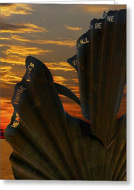 Dennis Pegg Greeting Cards - Scallop Sunrise Greeting Card by Darren Burroughs