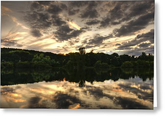 Hill Top Village Greeting Cards - Scarborough Mere Greeting Card by Svetlana Sewell