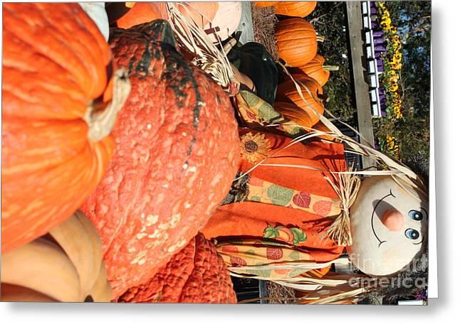 Nathan Grisham Greeting Cards - Scarecrow Greeting Card by Nathan Grisham