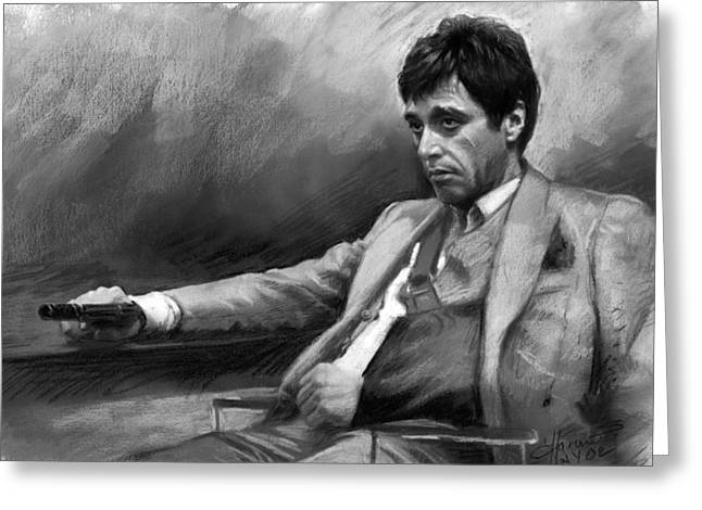 Tony Greeting Cards - Scarface 2 Greeting Card by Ylli Haruni