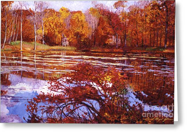 Fall Colors Greeting Cards - Scarlet Maples Greeting Card by David Lloyd Glover