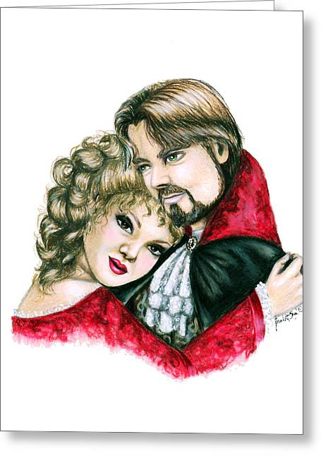 Pendants Drawings Greeting Cards - Scarlett and Nick Greeting Card by Scarlett Royal