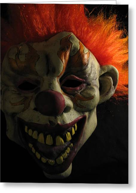 Scary Clown Greeting Cards - Scary Greeting Card by Kim Pascu
