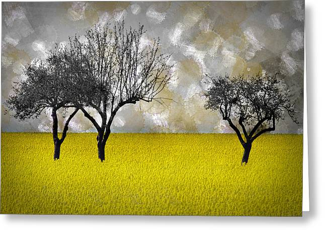Modern Digital Art Digital Art Greeting Cards - Scenery-Art Landscape Greeting Card by Melanie Viola