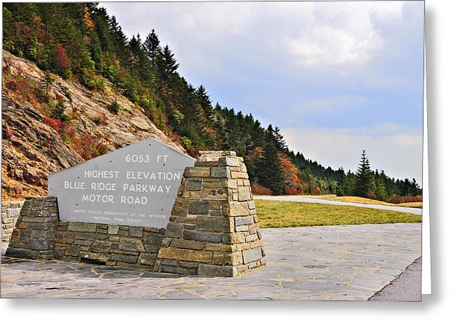 Susan Leggett Greeting Cards - Scenic Highway Greeting Card by Susan Leggett