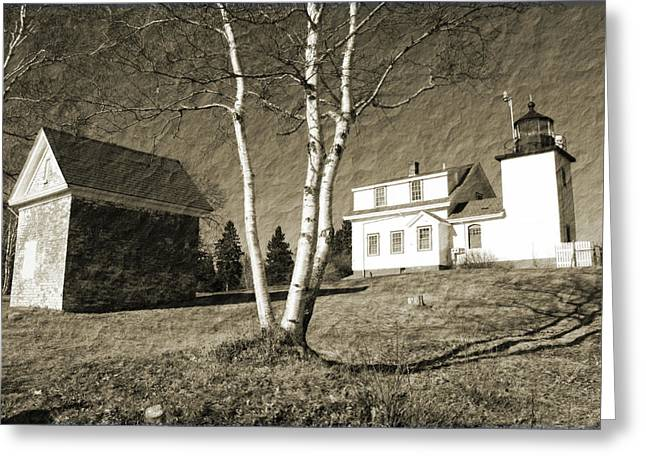 Maine Lighthouses Greeting Cards - Scenic Maine Greeting Card by Becca Brann