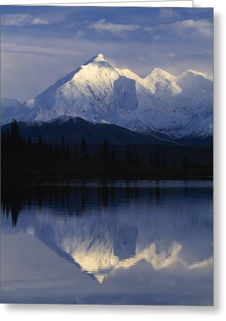 Snowy Brook Greeting Cards - Scenic Mountain Lake Greeting Card by Natural Selection Robert Cable