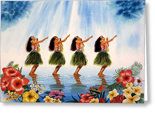 Dancer Art Greeting Cards - Scent Of Paradise Greeting Card by John YATO