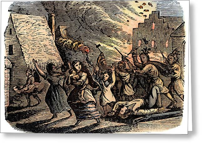1690 Greeting Cards - Schenectady Raid, 1690 Greeting Card by Granger