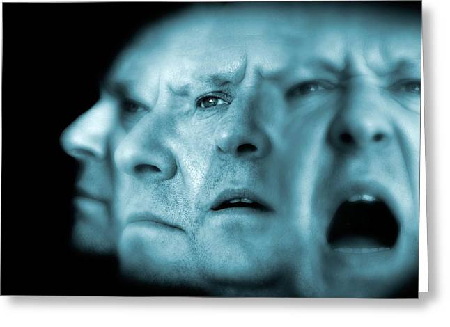 Multiple Personalities Greeting Cards - Schizophrenia, Conceptual Image Greeting Card by Victor Habbick Visions