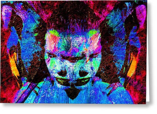 Hallucination Greeting Cards - Schizophrenia  Greeting Card by Tisha McGee