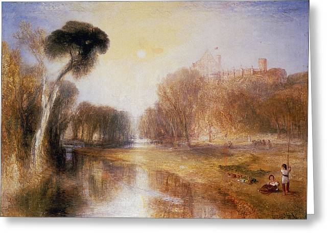 Reflection Of Trees Greeting Cards - Schloss Rosenau Greeting Card by Joseph Mallord William Turner