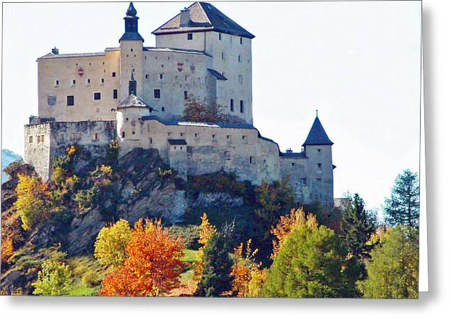 Graubunden Greeting Cards - Schloss Tarasp Switzerland Greeting Card by Joseph Hendrix