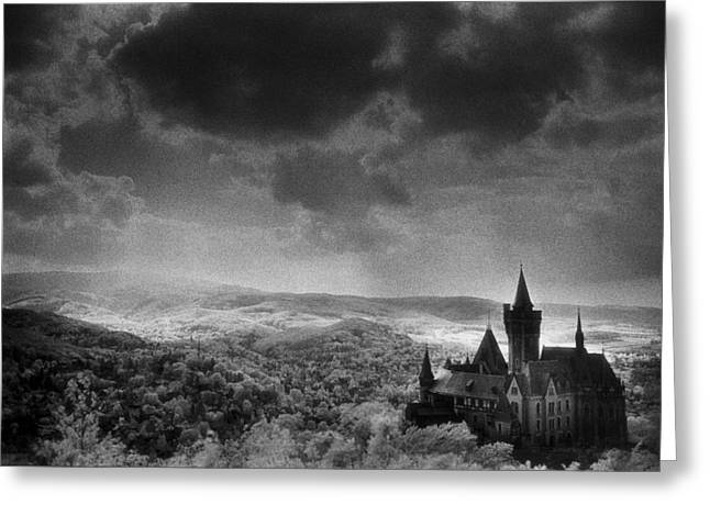 Ghostly Greeting Cards - Schloss Wernigerode Greeting Card by Simon Marsden