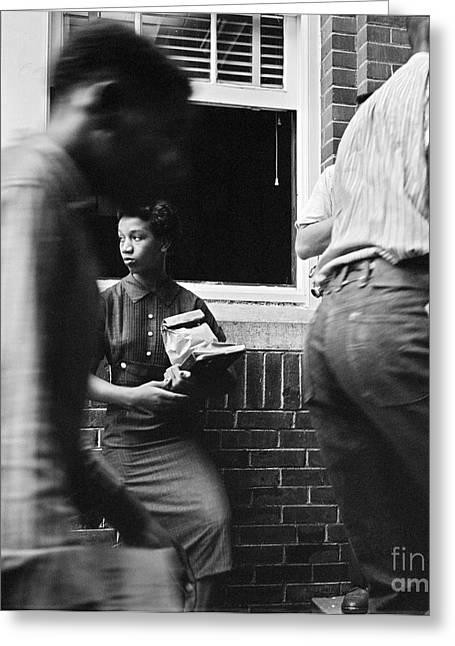 Desegregation Greeting Cards - School Desegregation, 1958 Greeting Card by Granger